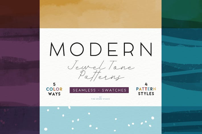 Thumbnail for Modern Jewel Tone Patterns
