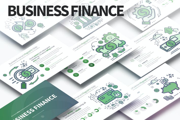Thumbnail for Business Finance - PowerPoint Infographics Slides