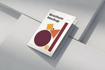 Brochure Mockup Scenes A4 A5 Bi-Fold
