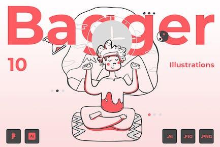 Bagger - Illustration Pack
