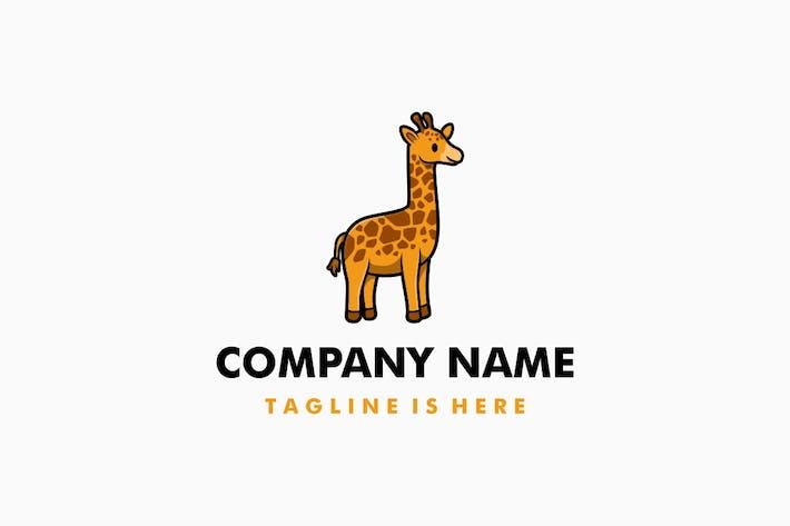 Thumbnail for Cute Giraffe Cartoon Logo