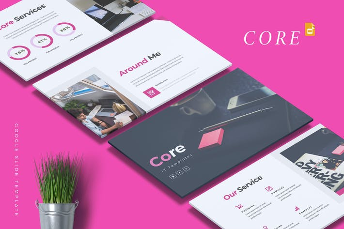 Thumbnail for CORE - IT Company Google Slides Template