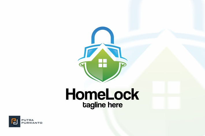 Thumbnail for Home Lock - Logo Template