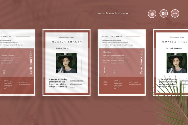 Cover Image For Minimalist CV Resume Vol 24