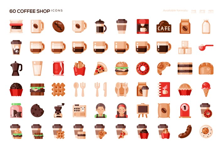 Thumbnail for 60 Coffee Shop Icons