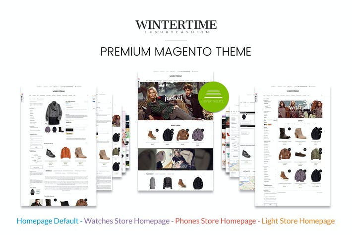 Thumbnail for Winter Fashion Responsive Magento Template