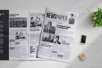 InDesign Newspaper Template