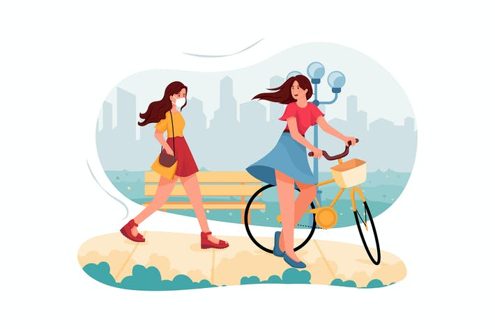 Thumbnail for People Lifestyle in City Illustration