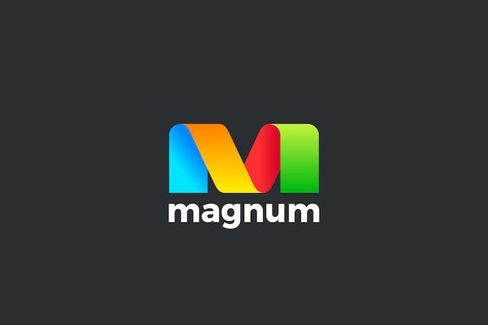 Thumbnail for Logo Letter M Ribbon Style
