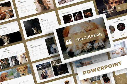 The Cute Dog - Powerpoint Template