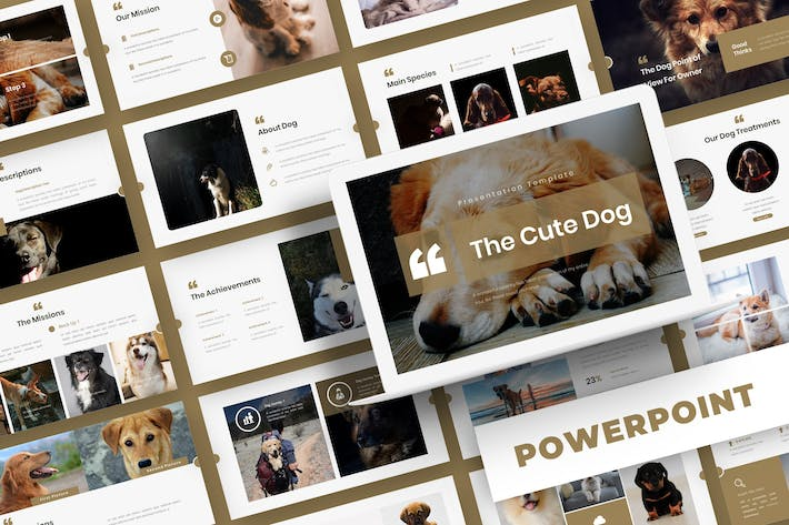 Thumbnail for The Cute Dog - Powerpoint Template