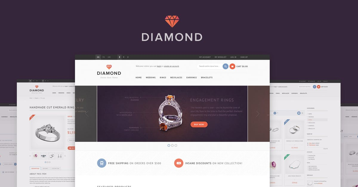 Download Diamond — HTML5 & CSS3 eCommerce Template by WpWay_
