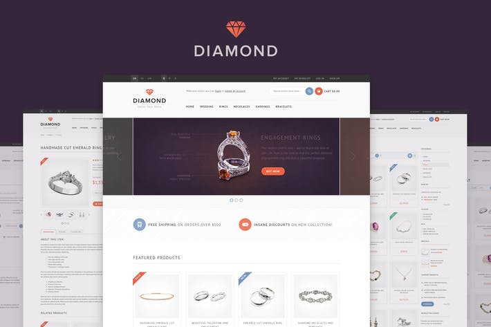 Diamond — HTML5 & CSS3 eCommerce Template by WpWay_ on Envato Elements