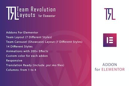 Team Revolution Layouts for Elementor