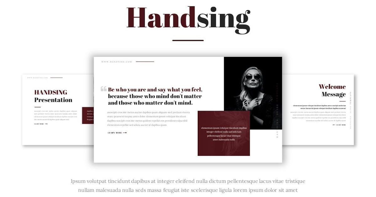 Download Handsing - Presentation Template by Fannanstudio