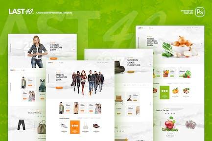 Last40 Store - Modèle PSD de commerce électronique