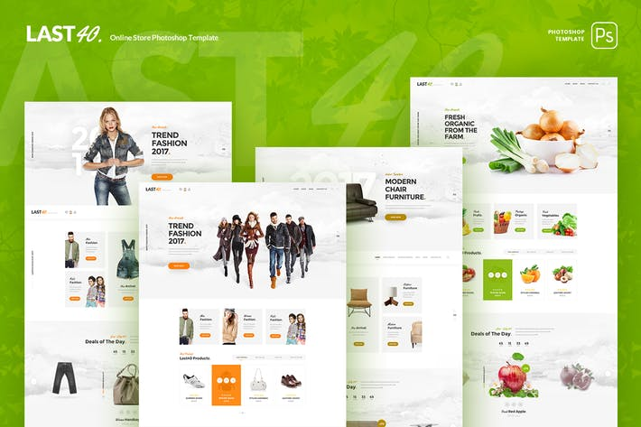 Thumbnail for Last40 Store - Ecommerce PSD Template