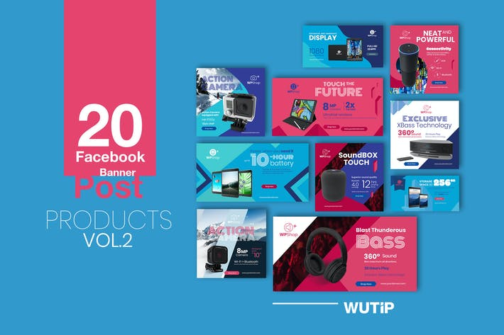 Thumbnail for 20 Facebook Post Banner - Products vol 02