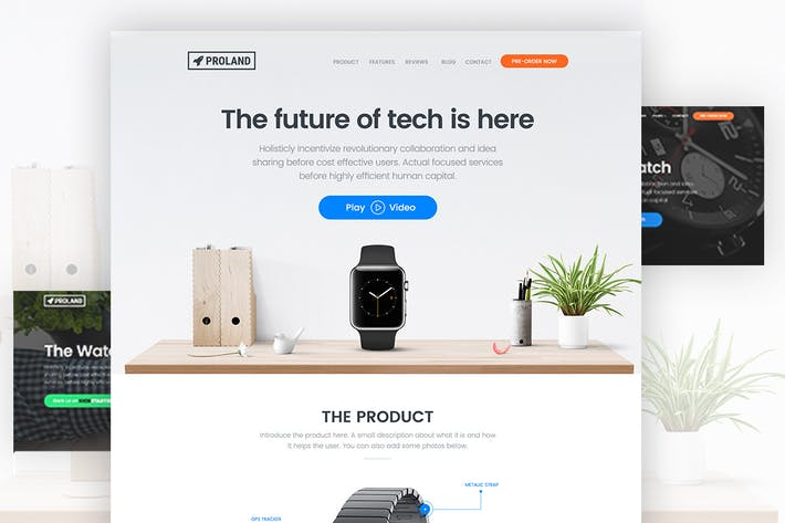 Thumbnail for Product Landing Page Template - Proland
