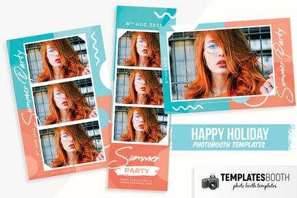 Summer Party Photo Booth Template