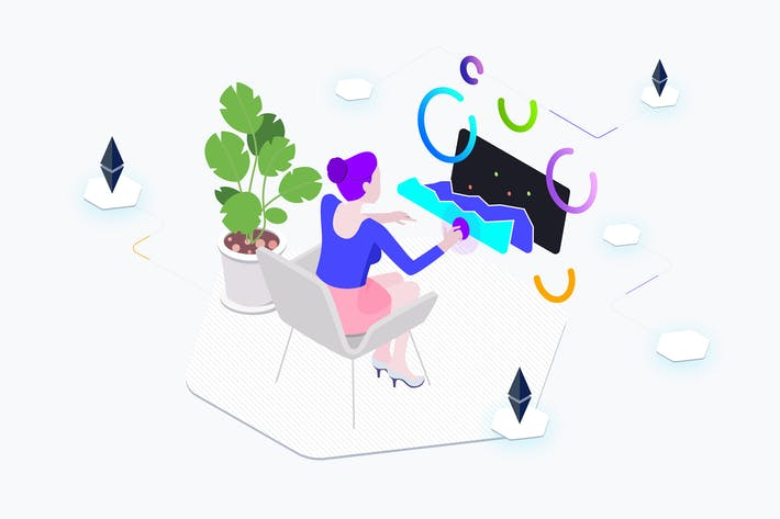 Thumbnail for AR Trade Coin Isometric Graphic - THM
