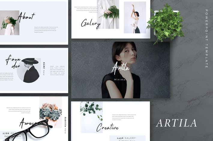 Thumbnail for ARTILA - Fashion Powerpoint Template