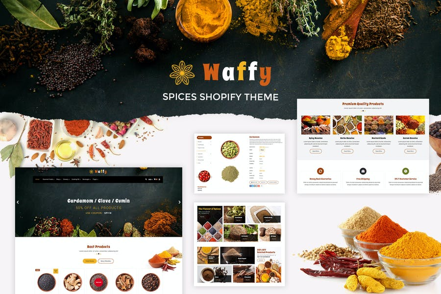Waffy | Spices, Dry Fruits Store Shopify Theme