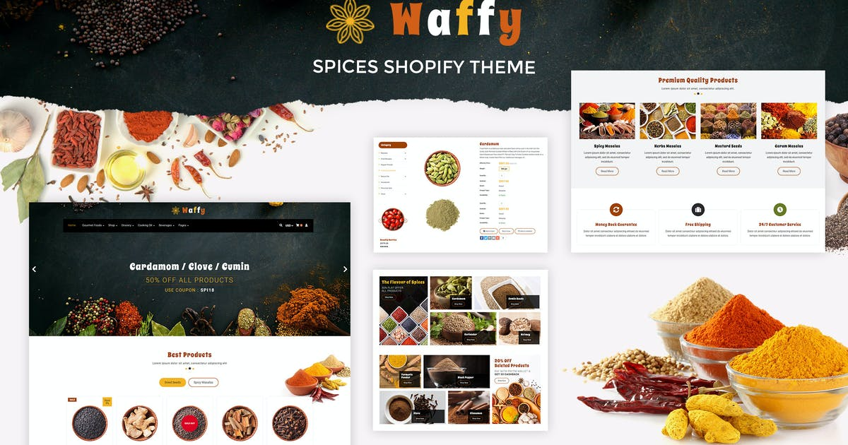 Download Waffy | Spices, Dry Fruits Store Shopify Theme by BuddhaThemes
