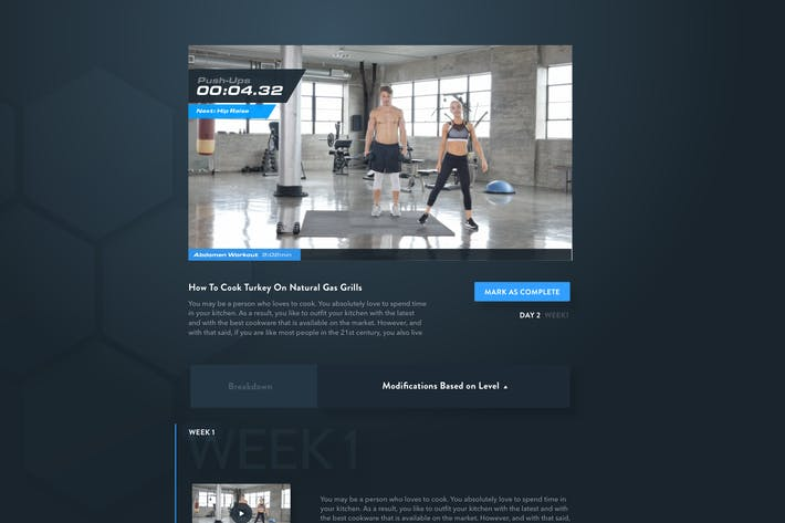 Thumbnail for Fitness Web App - Video Player