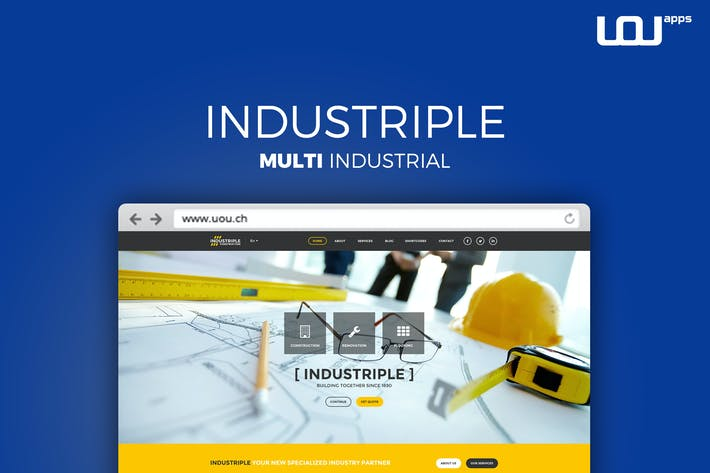 Thumbnail for Industriple - Multi Industrial Template