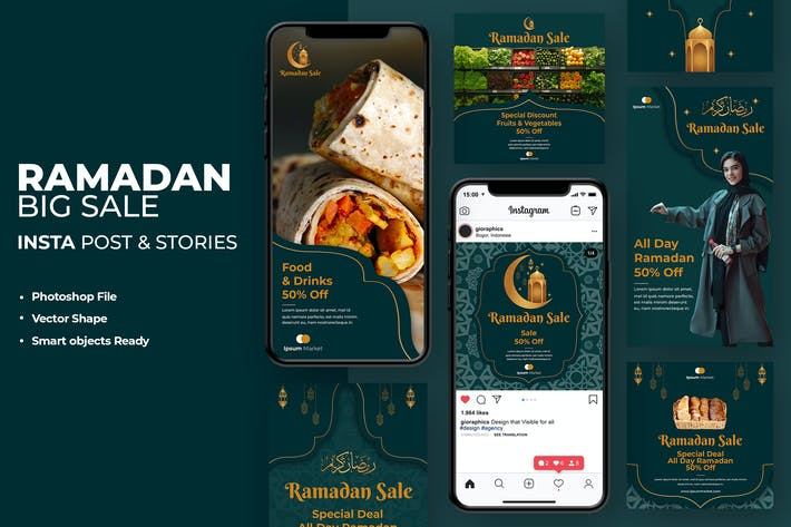 Thumbnail for Ramadan Sale Instagram Template