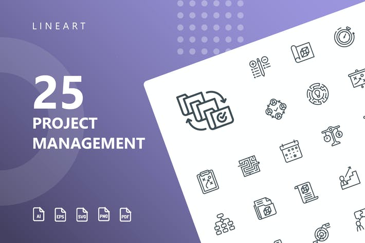 Thumbnail for Project Management Line Icons