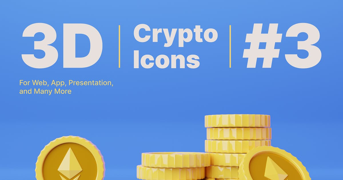 Download 3D Ethereum Cryptocurrency Icons by slabdsgn