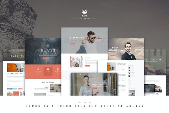 Thumbnail for Booss | Creative Multipurpose HTML Template
