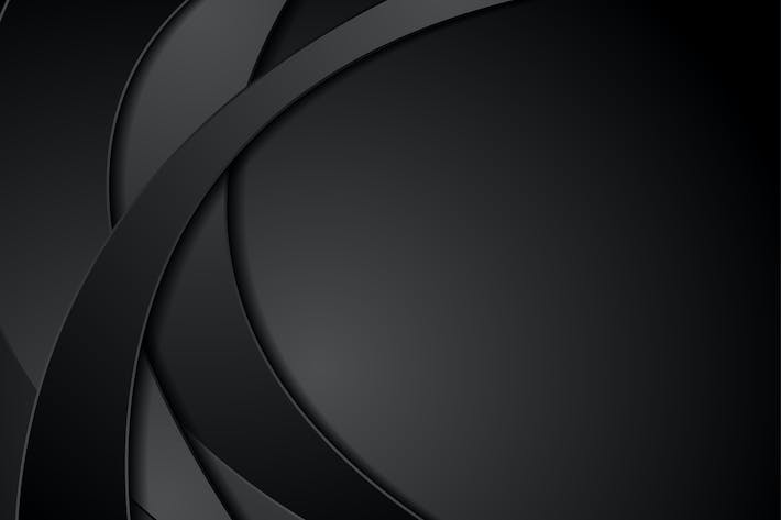 Thumbnail for Abstract black corporate waves background