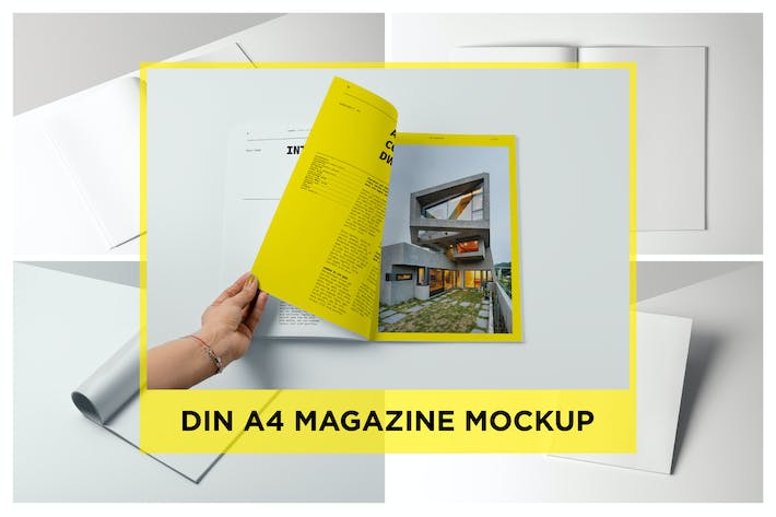 Thumbnail for A4 Magazine Mockup