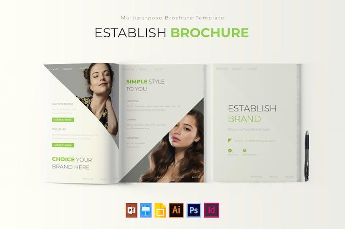 Thumbnail for Establish Brand | Brochure Template