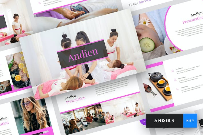 Thumbnail for Andien - Шаблон Keynote Spa & Beauty