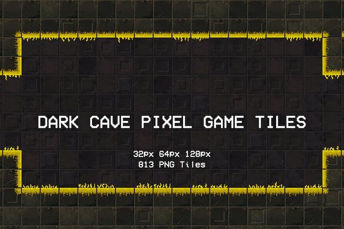 Dark Cave Pixel Game Tiles