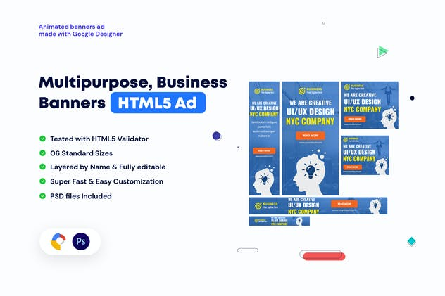 Multipurpose, Business Banners HTML5 Ad