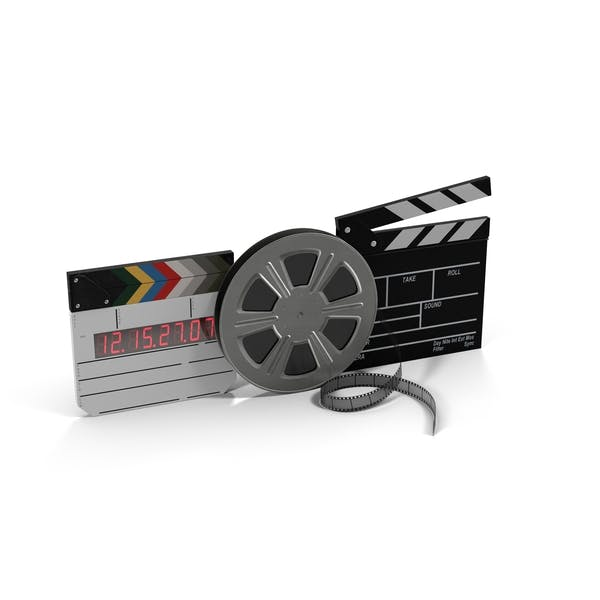 Movie Reel and Clapperboards