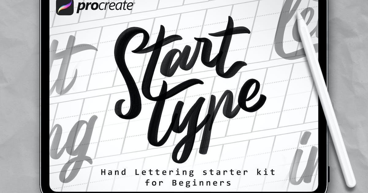 Download Start Type - Procreate Brush by Streakside
