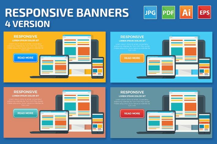 Thumbnail for Responsive Banners design