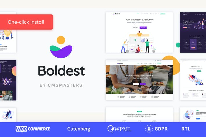 Thumbnail for Boldest - Consulting and Marketing Agency Theme