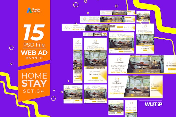 Thumbnail for Web Ad Banners - Homestay 04