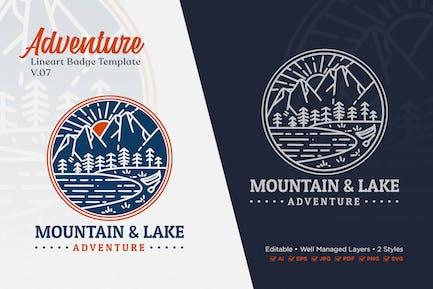 Adventure Monoline Logo Badge Template V.07