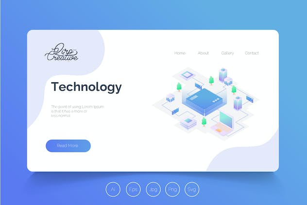 Isometric Landing Page QRS18