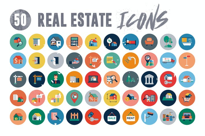 Thumbnail for 50 Real Estate Icons