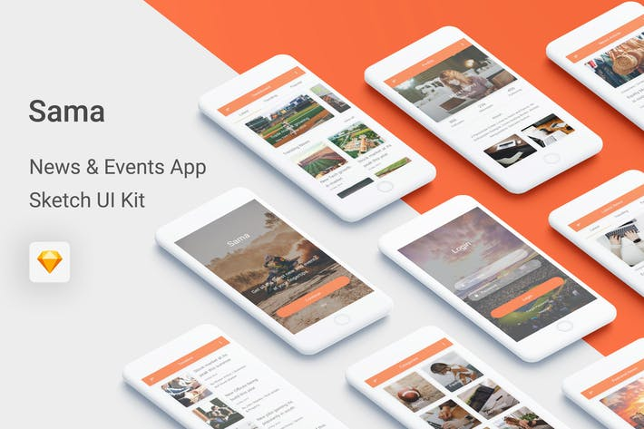 Thumbnail for Sama - News & Events UI Kit for Sketch