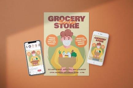 Lebensmittelverkäufe - Flyer Media Kit